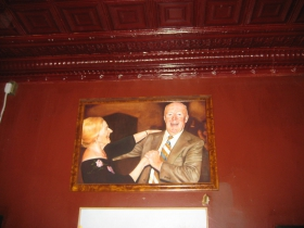A lovely painting of Steve Johnson's folks by Mike Fredrickson. Note the tin ceiling.