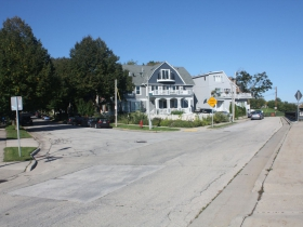 Intersection of Glover Avenue and Booth Street