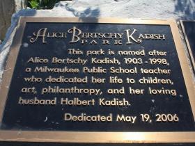 Kadish Park marker