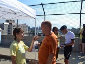 Matt Brusky of Citizen Action at the Blue Dress Park Bonus Checkpoint