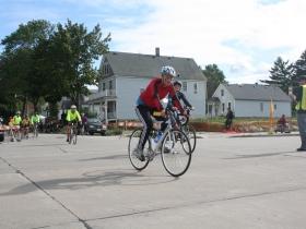 Leah Sprecher Voltz racing ahead.