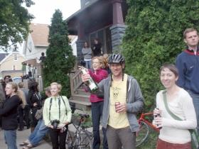 Bart Griepentrog celebrating.