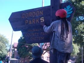 Gordon Park sign change