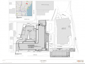 1150 North Apartments updated site plan.
