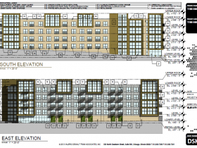 1150 North Apartments South and East updated elevations.