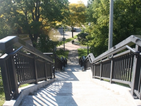 Stairway to the former reservoir