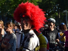 The Feathered Helmet Kept this Rider's Nerves Calm at the Start Line