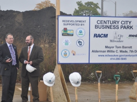 Rocky Marcoux, Commissioner, Department of City Development, and  Benji Timm, 30th Street Corridor Project Developer, Redevelopment Authority City  of Milwaukee.
