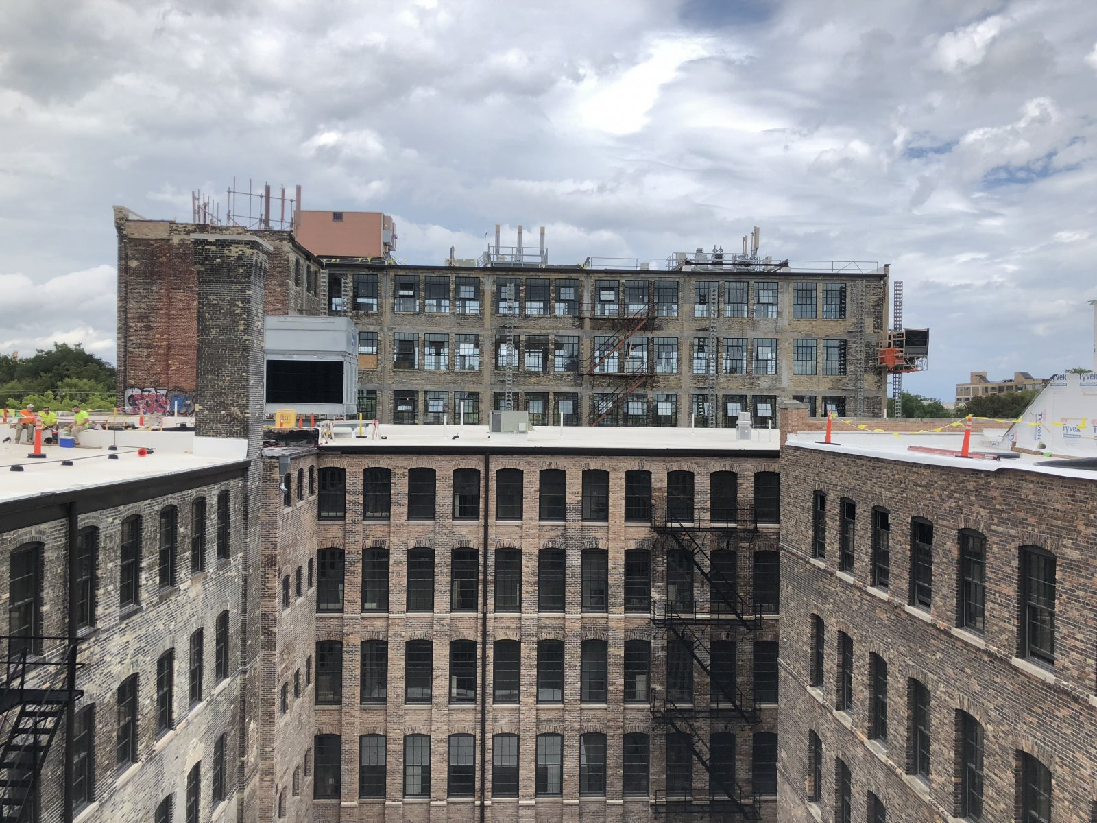 Roof View of Rehabbed Windows
