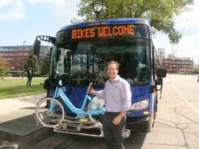 Chris Abele and 3-Stall Bike Rack