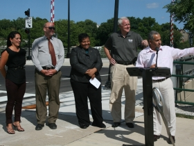 Pleasant Street Lift Bridge Ribbon Cutting