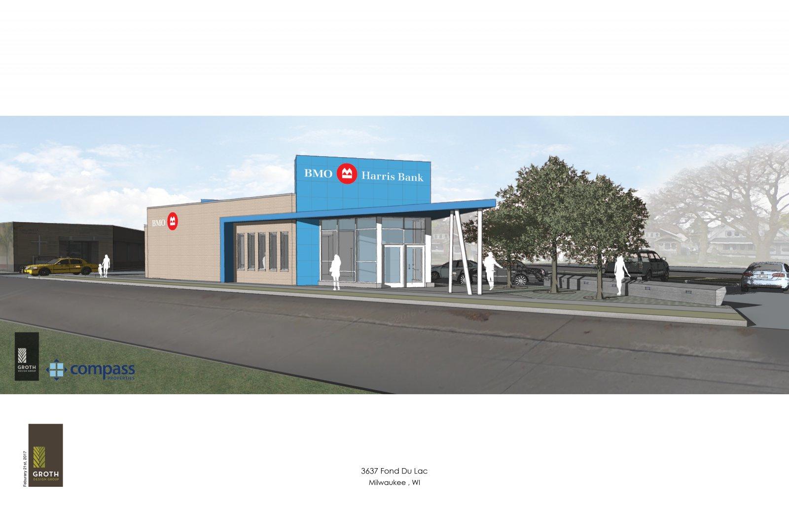 BMO Harris Bank Sherman Park Branch Rendering