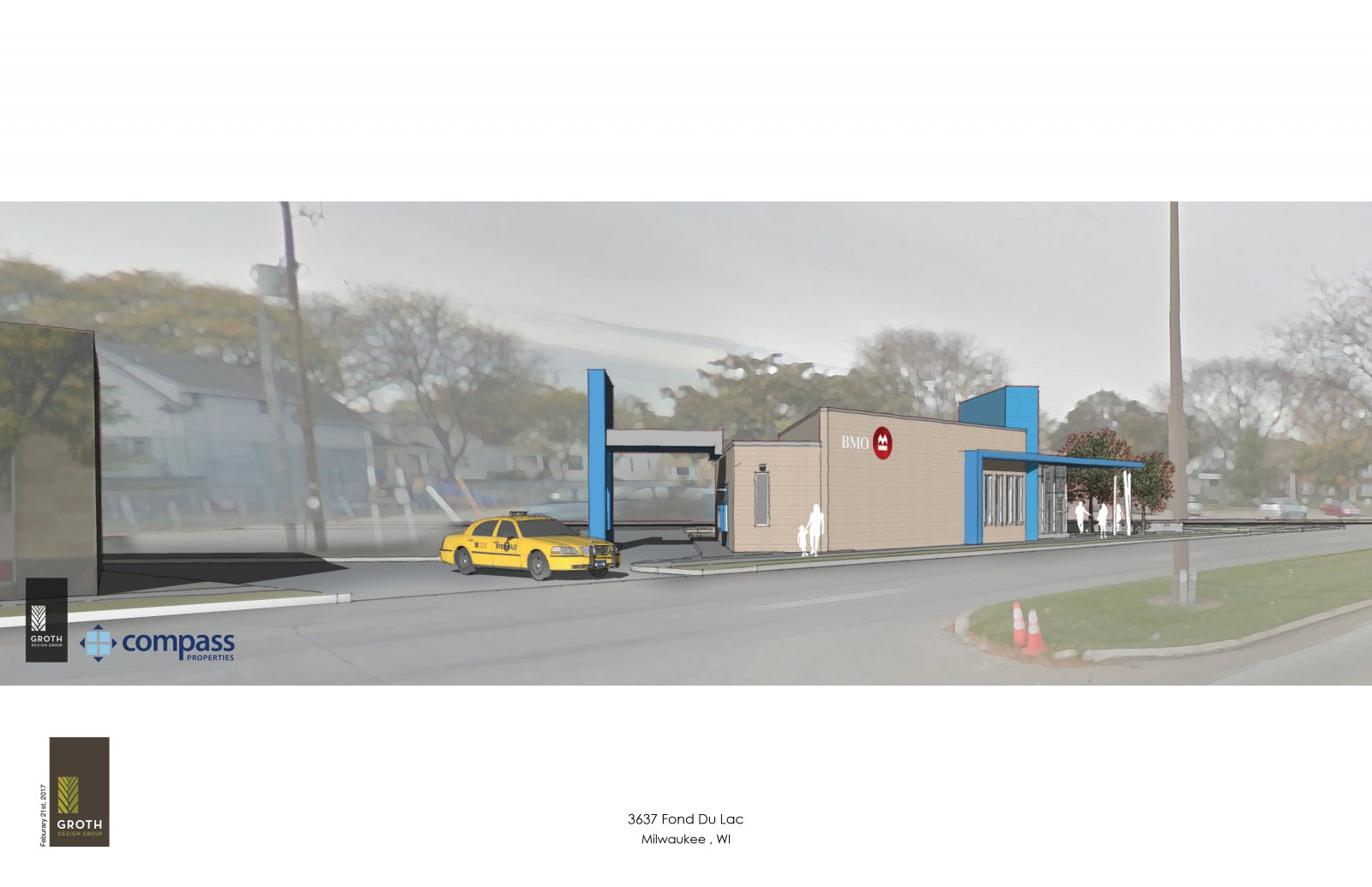 BMO Harris Bank Sherman Park Branch Rendering