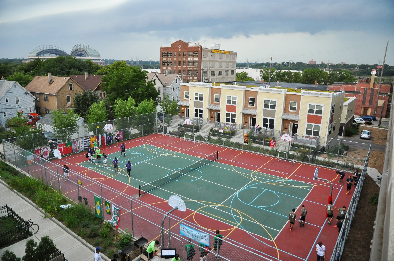 SOCCERFEST at the Silver City Townhomes Sports Courts. Organized by the Milwaukee Soccer Development Group.