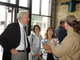 Mayor Barrett, Rachel, and Charlotte John-Gomez