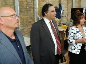 Todd Hutchison, Farshad Maltes, and Charlotte John-Gomez.