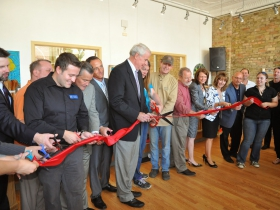 Ribbon cutting.