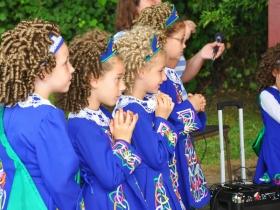 Cashel Dennehy School of Irish Dance performed at the Arlington Heights Park Bandshell.