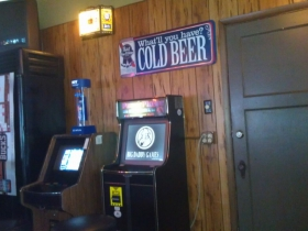 Inside Mamie's Bar and Grill.