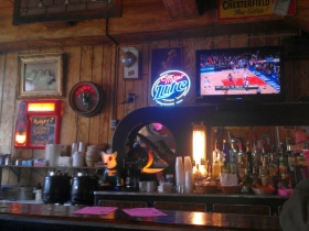 The bar at Mamie's Bar and Grill. Photo by Mrinal Gokhale.