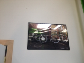 A poster of Fyxation bicycles.