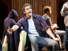 Dan DeLuca (Jerry Lukowski) in Skylight Music Theatre's production of The Full Monty running September 24 – October 17, 2021.
