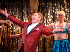 Norman Moses (Georges) in Skylight Music Theatre's La Cage Aux Folles.