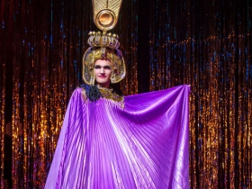 Will Henke (Cagelle) in Skylight Music Theatre's La Cage Aux Folles.