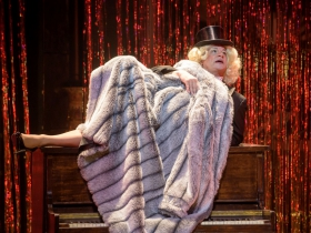 Ray Jivoff (Albin) in Skylight Music Theatre's La Cage Aux Folles.