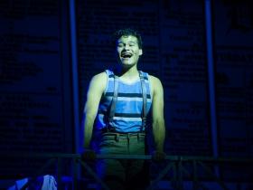 Marco Tzunux (Jack Kelly) in Skylight Music Theatre's production of Disney's Newsies running November 15 – December 29, 2019.
