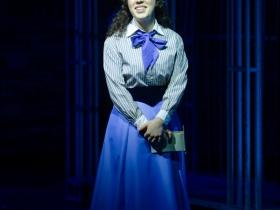 Rachael Zientek (Katherine Plumber) in Skylight Music Theatre's production of Disney's Newsies running November 15 – December 29, 2019.