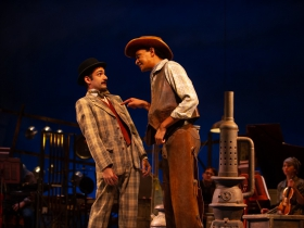 Sean Anthony Jackson (Will Parker) and Ethan Brittingham (Ali Hakim) in Skylight Music Theatre's production of Oklahoma! September 27 – October 13.