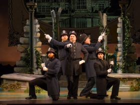 Martin Lowen Poock (Sergeant of Police), center, and Cast of Pirates of Penzance