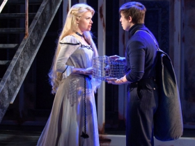 Kelly Britt (Johanna) and Lucas Pastrana (Anthony Hope) in Skylight Music Theatre's Sweeney Todd running May 19 – June 11.