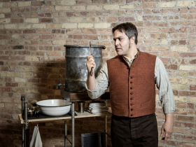 Andrew Varela (Sweeney Todd) in Skylight Music Theatre's Sweeney Todd running May 19 – June 11.