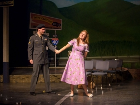 Alex Mace (Monty) and Allie Babich (Violet) in Skylight Music Theatre's Violet