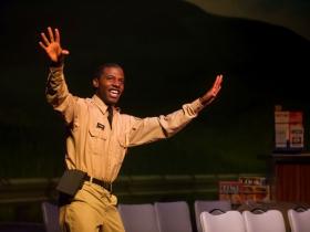 Lamar Jefferson (Flick) in Skylight Music Theatre's Violet