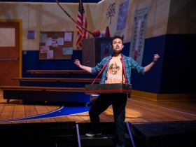 Yando Lopez (Chip Tolentino) in Skylight Music Theatre's production of The 25th Annual Putnam County Spelling Bee running February 7 – February 23, 2020.