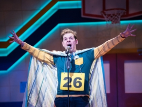 Ryan Stajmiger (Leaf Coneybear) in Skylight Music Theatre's production of The 25th Annual Putnam County Spelling Bee running February 7 – February 23, 2020.
