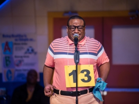 James Carrington (William Barfèe) in Skylight Music Theatre's production of The 25th Annual Putnam County Spelling Bee running February 7 – February 23, 2020.