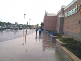 Picketers Protest at South Side Walmart.