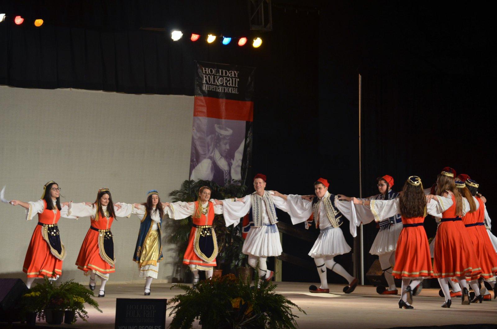 Greek dance group