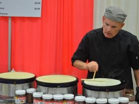 French food booth at Folk Fair International