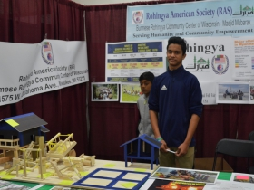 Rohingya American Society booth at 2018 refugee exhibit