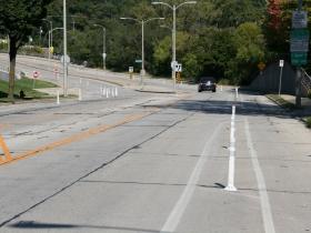 Protected Bike Lane on N. Hawley Rd.