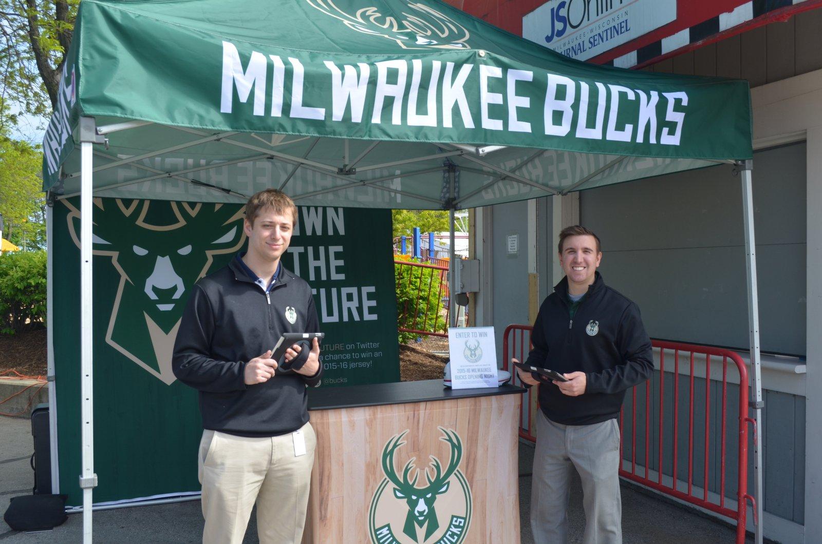 Milwaukee Bucks tent
