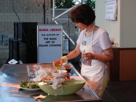 Celebrity Chef Maria Liberati will thrill audiences with culinary delights and cooking demonstrations at the Cucina Showcase Friday and Sunday at 6:30 p.m. and Saturday at 5:15 p.m.