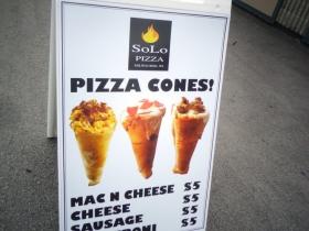 Finally, pizza cones!
