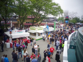 A view of the Summerfest grounds from Water Street Brewery.