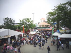 A view from above the Summerfest grounds.